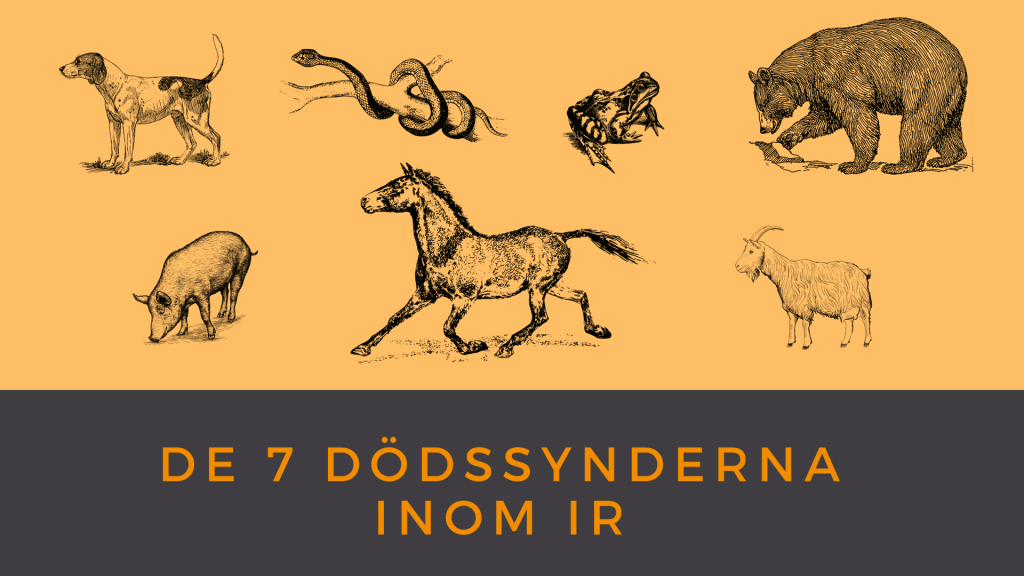De 7 dödssynderna inom IR
